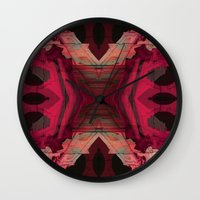 baroque Wall Clocks featuring BAROQUE by Mike Maike