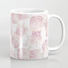 Geometric rose gold pineapples marble pattern Coffee Mug