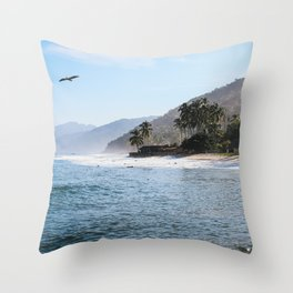 Mexico Secluded Beach Paradise  Throw Pillow