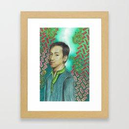 Lonely Man Framed Art Print