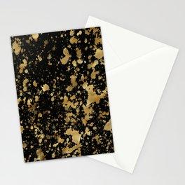Black & Gold Splash Stationery Cards
