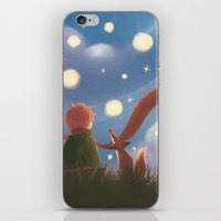 le petit prince iPhone & iPod Skins featuring Le Petit Prince by Gimena Gusteler