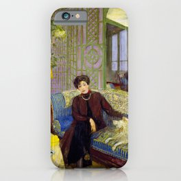 Edouard Vuillard - Marcelle Aron, Madame Tristan Bernard - Digital Remastered Edition iPhone Case