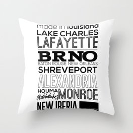 Made In Louisiana Throw Pillow