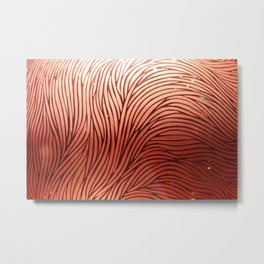 Red composition of multiple directional lines. Metal Print