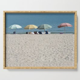 Bald Head Island Beach Umbrellas | Bald Head Island, North Carolina Serving Tray