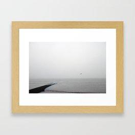 Alone in Mist Framed Art Print