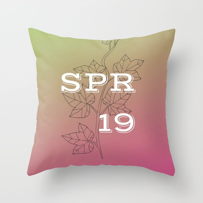 Spring 19 Pink and Green Throw Pillow