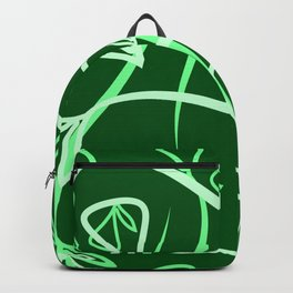Geometric pastel pattern from vegetable green and mint elements on a marsh background. Backpack