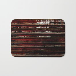 Burning Flags Abstract Grunge Photography Bath Mat