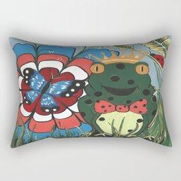 Frog Prince And His Kingdom Rectangular Pillow