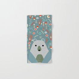 Winter pattern with baby bear Hand & Bath Towel