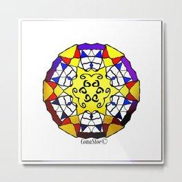 Gold Plated Mandala Metal Print