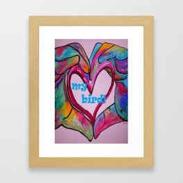 I Heart my BIRD! Framed Art Print