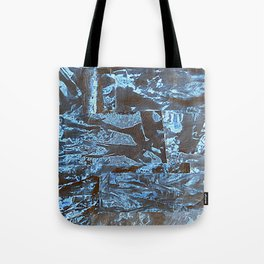 Negative-Style Abstract Pattern Tote Bag