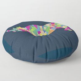 Abstract Rhino Floor Pillow