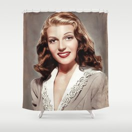 Rita Hayworth, Hollywood Legend Shower Curtain