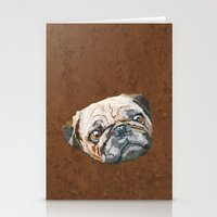 pug Stationery Cards featuring pug by Ancello