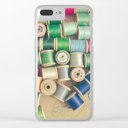 Cotton Reels Clear iPhone Case