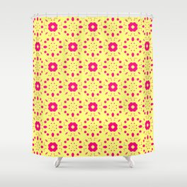 Bold Bloom | No. 5 | Floral Repeat Pattern Shower Curtain