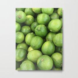 Fresh Limes Metal Print