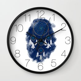 Classic Dreamcatcher 2: Blue background Wall Clock