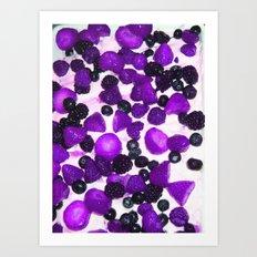 Purple fruit desert Art Print