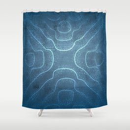 Chladni Pattern - Light Blue by Spencer Gee Shower Curtain