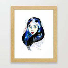 The whole world Framed Art Print