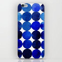 Blue Circles in Watercolor iPhone Skin