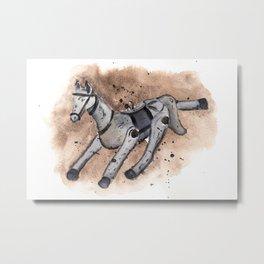 Christmas decor - horse Metal Print