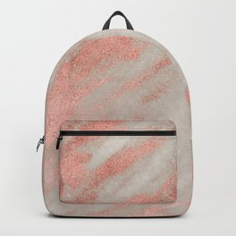 Smooth rose gold on gray marble Backpack