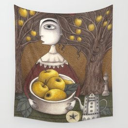 Portrait of an Apple Orchard Wall Tapestry