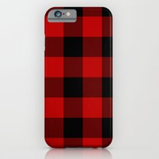 Red and Black Buffalo Plaid iPhone 6 Slim Case