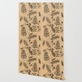 Kraft Paper Pine Wallpaper