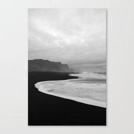 Black Sand Beach of Vik Iceland Canvas Print