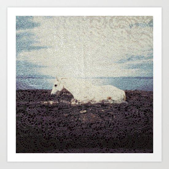 Horse by the Sea Art Print