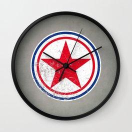 North Korea cocarde Wall Clock