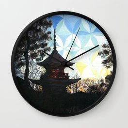 Kyoto Kaleidoscape Wall Clock