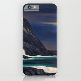 Classical Masterpiece Brewing Storm, Monhegan Island, Maine by Rockwell Kent iPhone Case