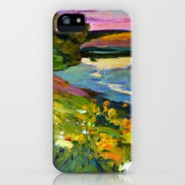 Evening on the river iPhone Case