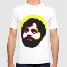 Zach Galifianakis Died for our Sins Mens Fitted Tee White MEDIUM