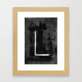 - L - Framed Art Print