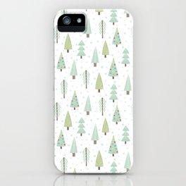 Xmas trees iPhone Case