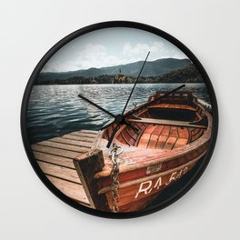 lake bled autumn scene Wall Clock