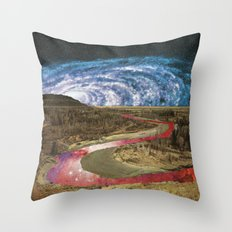 Space River Throw Pillow