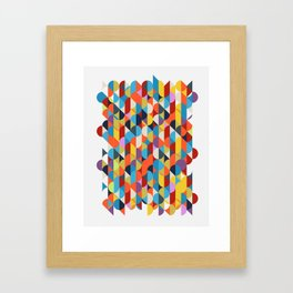 Simple Circle Pattern. Framed Art Print