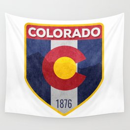 Colorado Badge Wall Tapestry