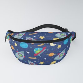 Fun Space Rockets and Aliens Fanny Pack