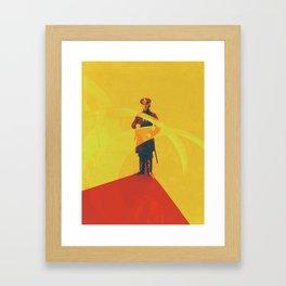 Thin Red Line Framed Art Print